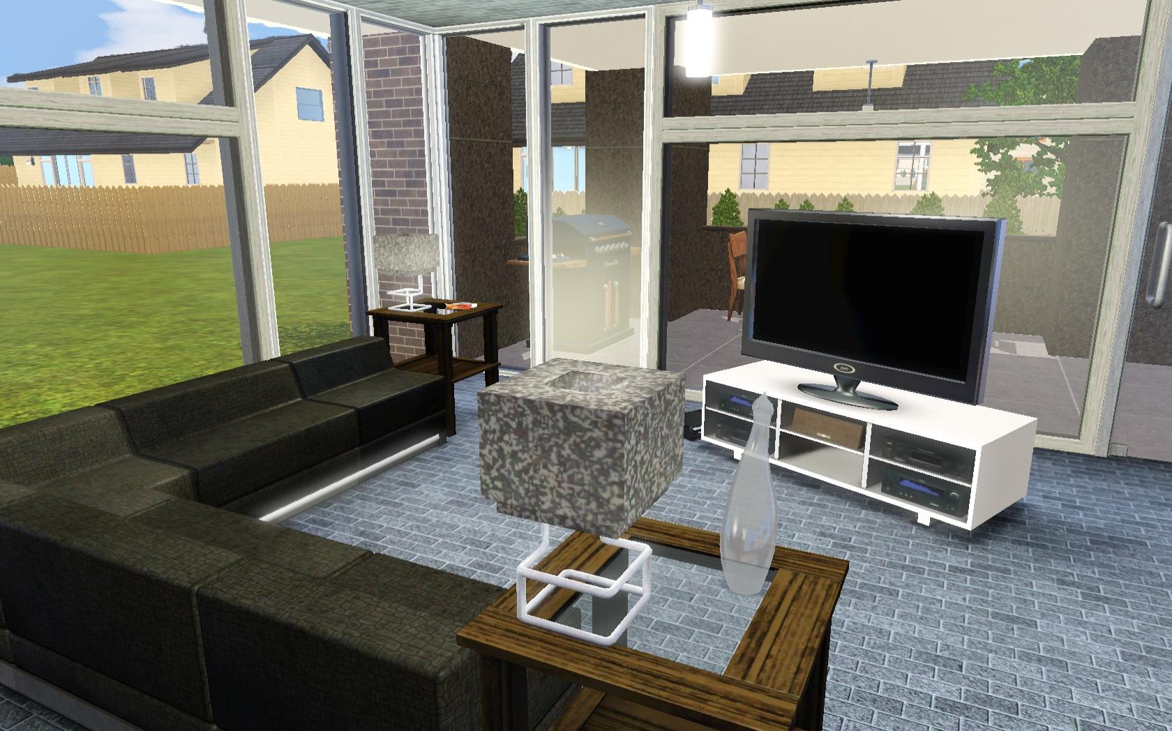 Mod the sims small modern bachelor pad for Small bachelor pad