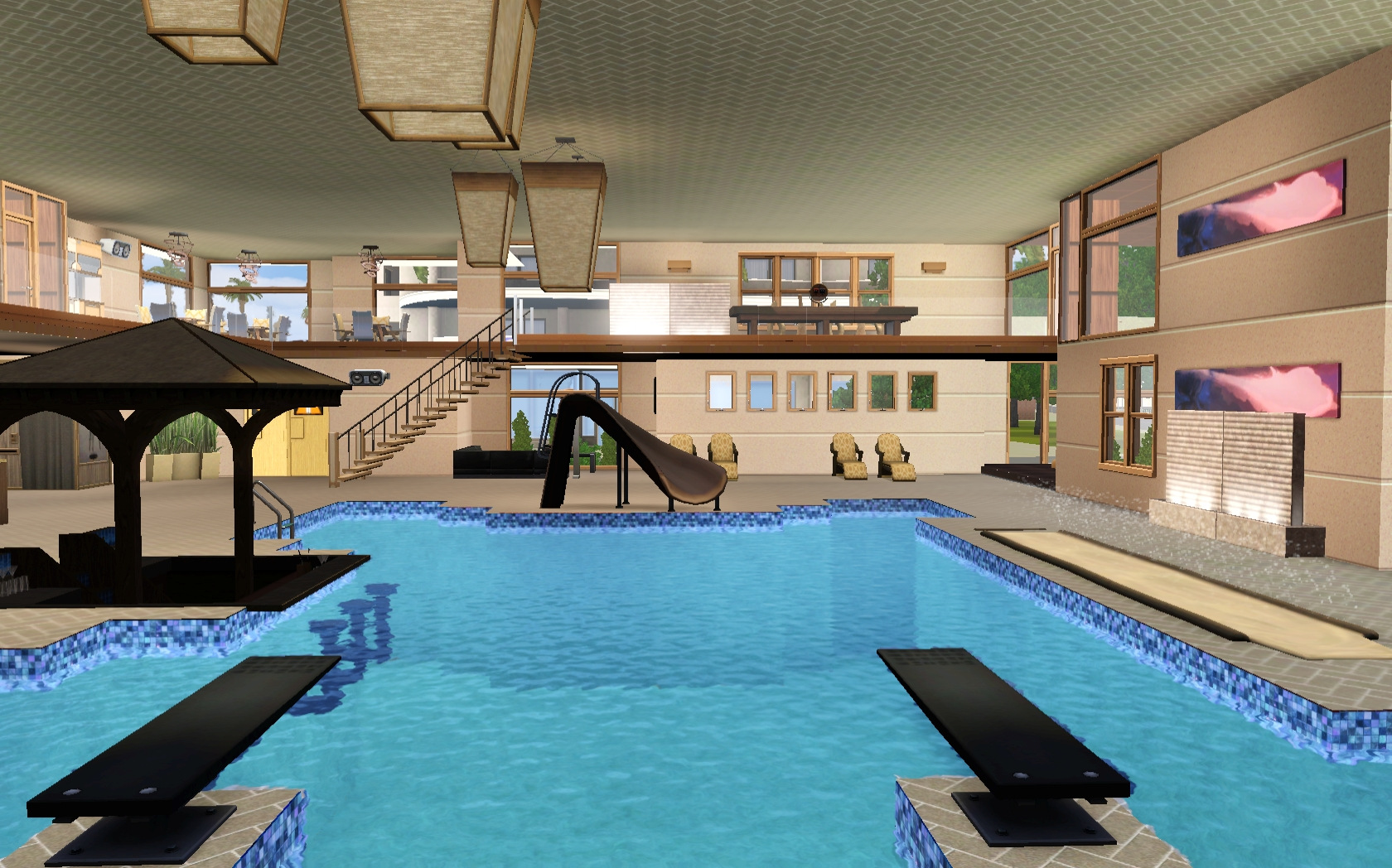 Mod the sims liquid h2o indoor pool for Pool design sims 3
