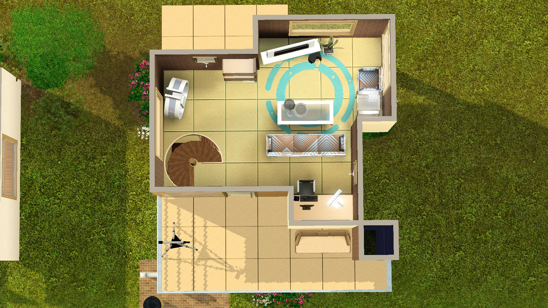 Mod the sims tiny house series family modern for Tiny house for family of 4