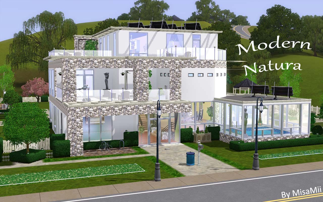 Mod The Sims - Modern Natura ~ an eco-friendly home for your sims!