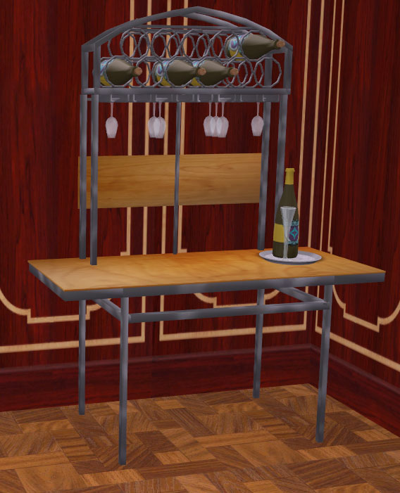 Mod the sims a wine rack with matching dining room for Matching dining room furniture