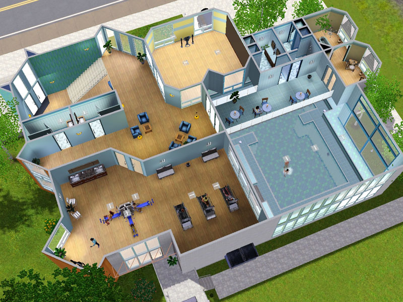 Mod the sims hour wellness gym renovated remodelled