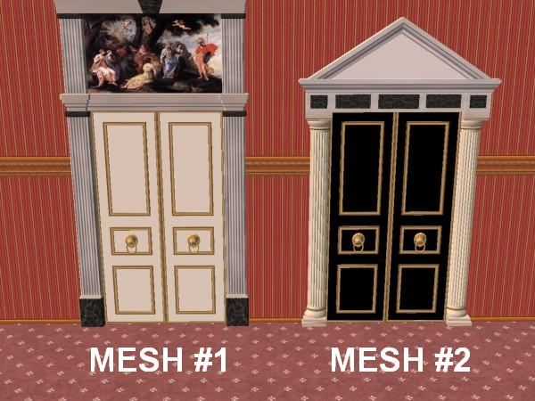 2 Story Doors : Mod the sims two new story door meshes versailles