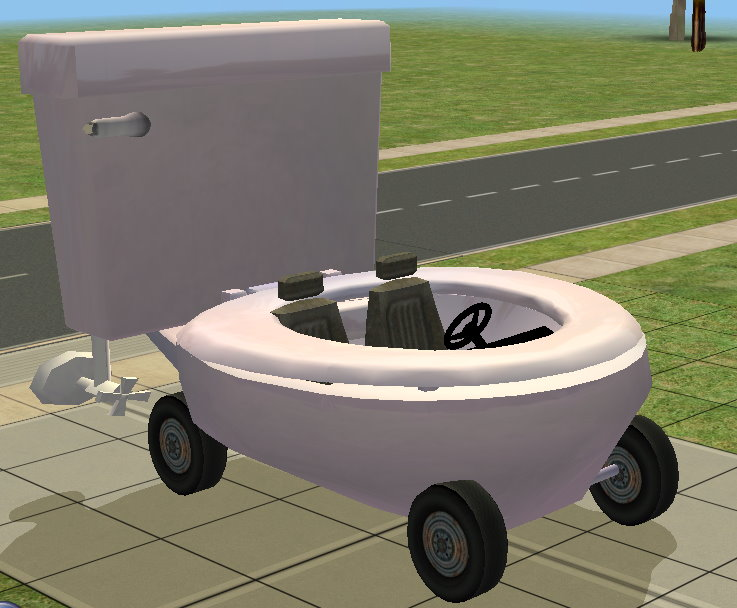 mod the sims the toilet car. Black Bedroom Furniture Sets. Home Design Ideas