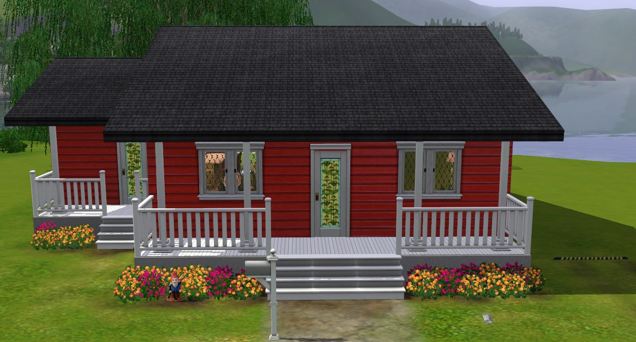 Mod the sims barn galow small family home for Tiny house family of 6