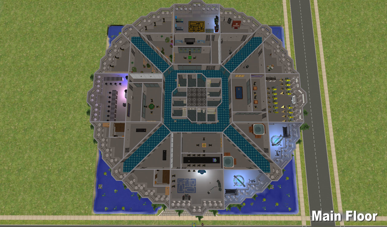 Mod The Sims Nci Brown Roof Ufo