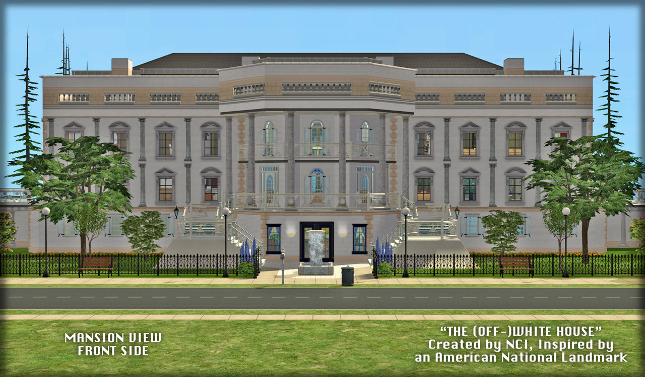 mod the sims nci the off white house an inspired. Black Bedroom Furniture Sets. Home Design Ideas