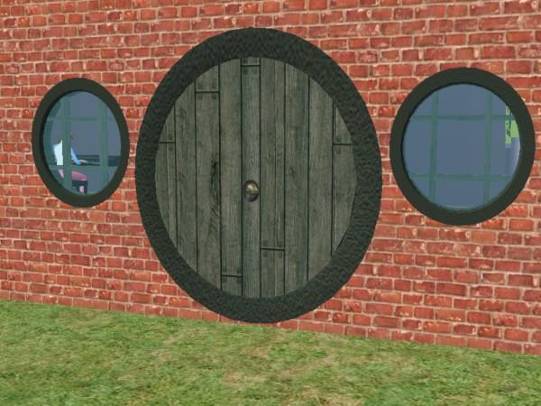 Mod The Sims Round Quot Hobbit Hole Quot Door And Window S Set