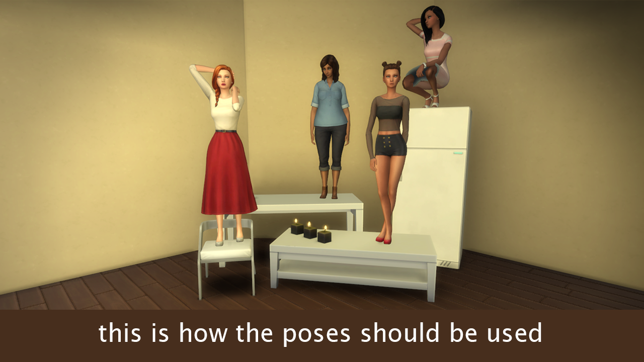 Mod The Sims - Super Edgy Pose Pack