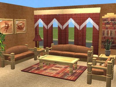 Mod The Sims - Southwestern Livingroom Set