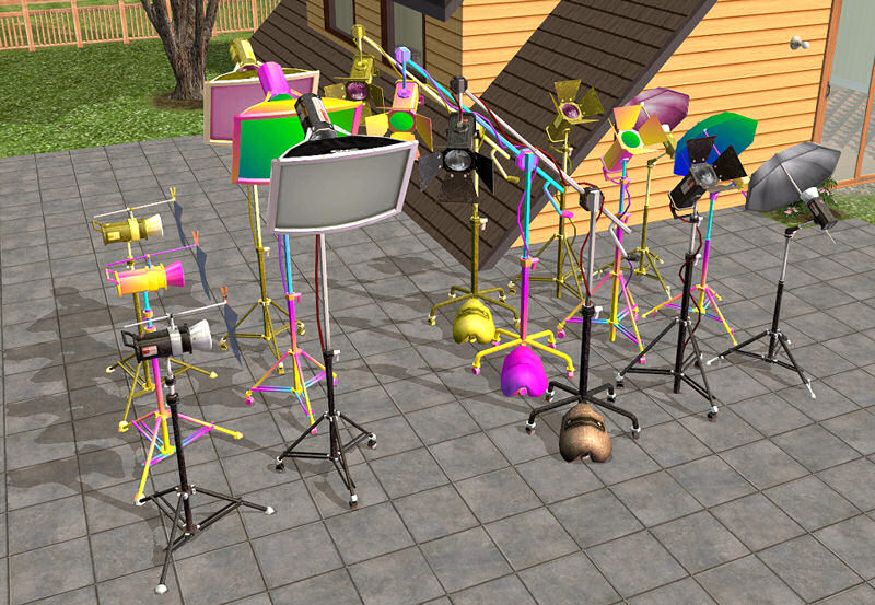 mod the sims   maxis lost amp found 3 five studio lamps