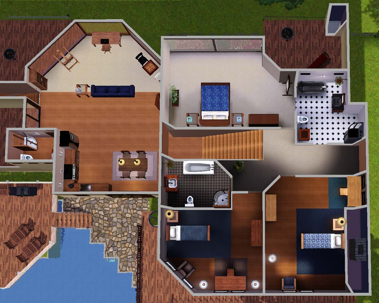 Mod The Sims Sunset Cliffs Cool BR BA Ocean View Home - Cool sims 3 houses