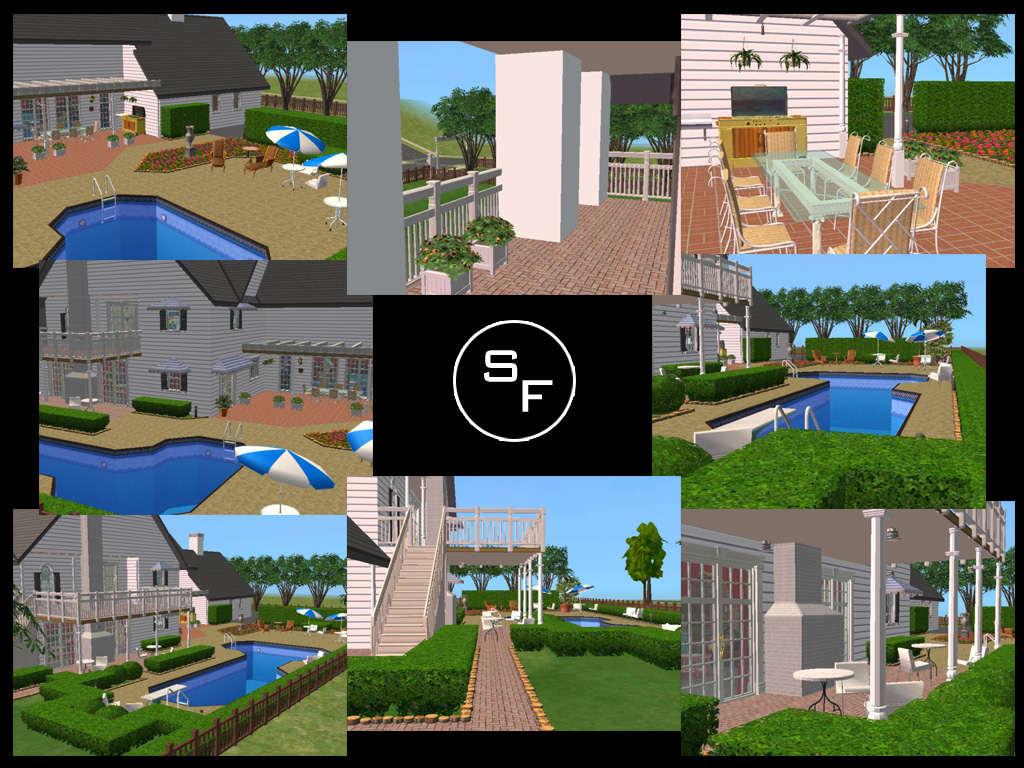 Mod the sims southfork ranch for Southfork house plan