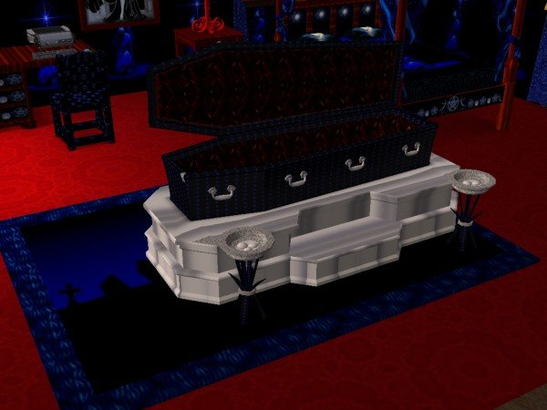 Mod The Sims - CoffinBed for Blue Moon Gothic Reaper Bedroom set(