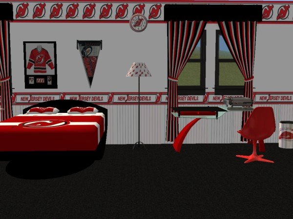 Mod The Sims New Jersey Devils Hockey Bedroom Set