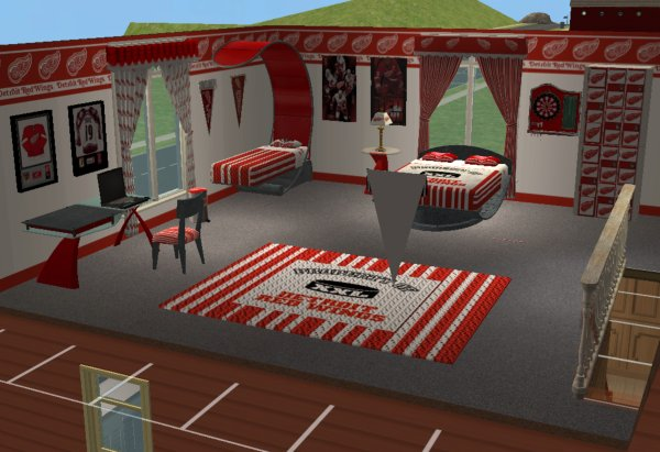 51fb138be61 Mod The Sims Detroit Redwings Hockey Bedroom For Chilliwack