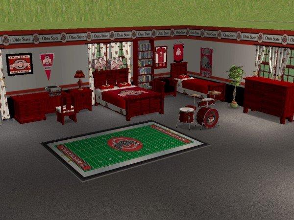 Ohio State Buckeyes Bedroom Ideas