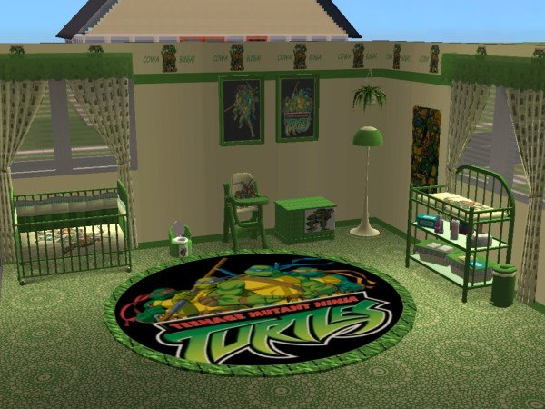 Mod The Sims Teenage Mutant Ninja Turtles Nursery And