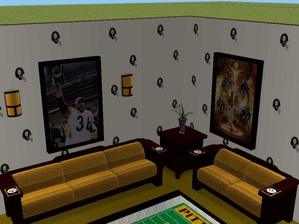 steelers bedroom. Advertisement  Mod The Sims Pittsburgh Steelers Bedroom and Living Room For My