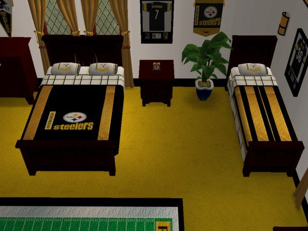 Advertisement. Mod The Sims   Pittsburgh Steelers Bedroom and Living Room  For My