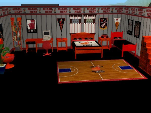 Advertisement. Mod The Sims   Miami Heat bedroom  requested by iamjbird