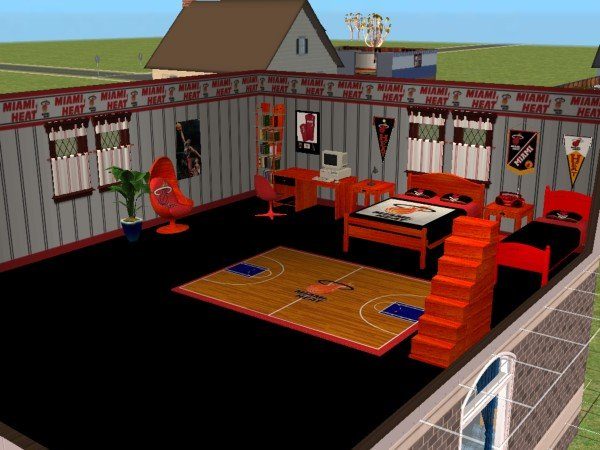 mod the sims miami heat bedroom requested by iamjbird. Black Bedroom Furniture Sets. Home Design Ideas