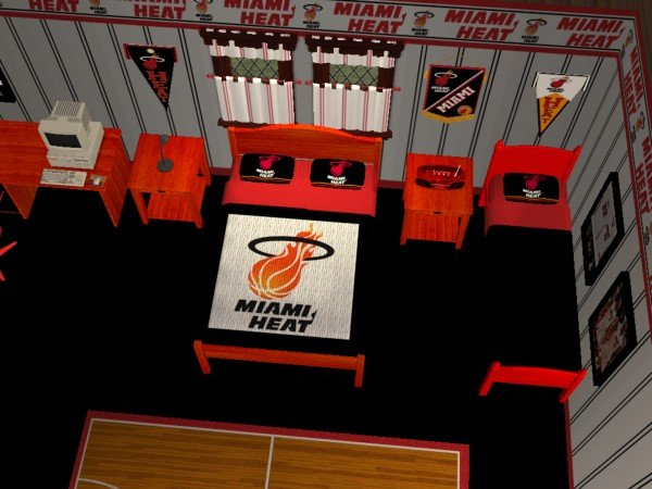 mod the sims miami heat bedroom requested by iamjbird