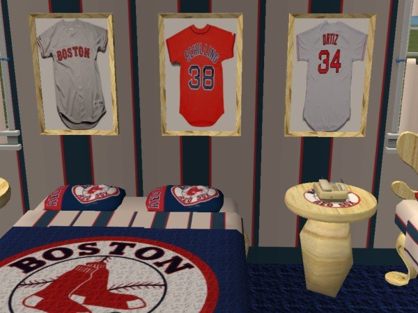 Advertisement. Mod The Sims   Boston Red Sox Bedroom  requested by hockeyyrulez