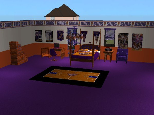 Mod The Sims Phoenix Suns Basketball Bedroom For My Best Friend