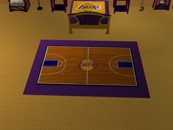 Mod The Sims LA Lakers Bedroom for Nelo Ice – Lakers Bedroom