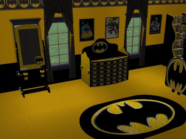 Mod The Sims - Batman Child\'s room (requested by evil_tennyo)