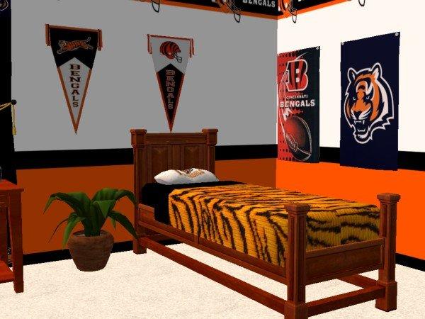 Mod The Sims Cincinnati Bengals Bedroom For Luke92