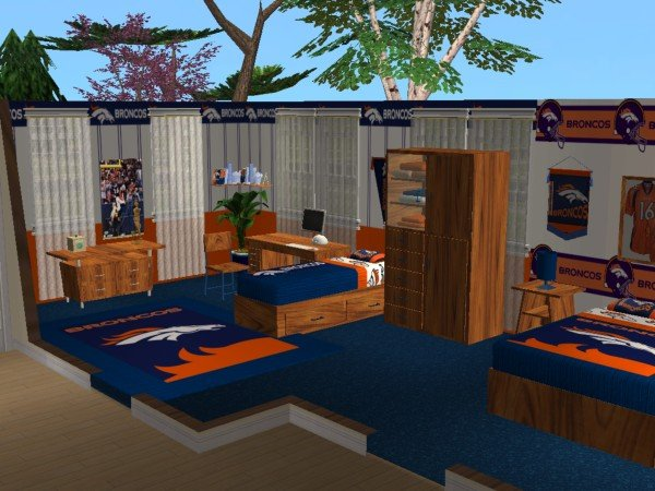 Mod The Sims - Denver Broncos Bedroom requested by Jeffsta17