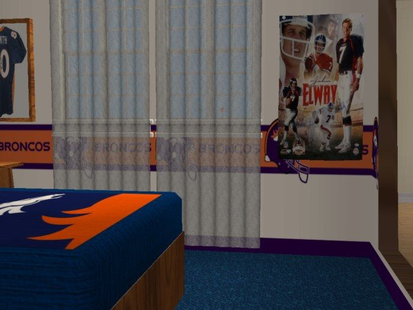 Mod The Sims Denver Broncos Bedroom Requested By Jeffsta17