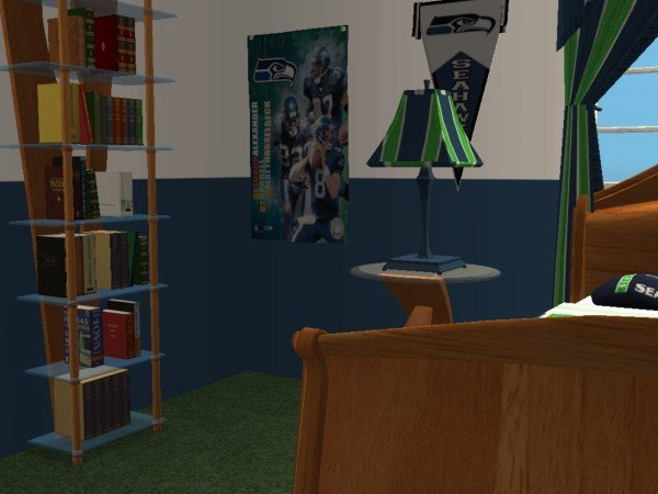 Mod The Sims - Seattle Seahawks Football Bedroom (requested)