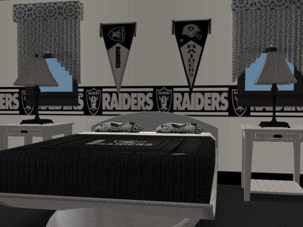 Mod The Sims Oakland Raiders Bedroom Requested