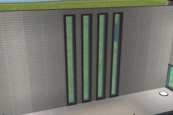 Mod The Sims 39 Tall Embrasure Pair 39 The Thin Window Pair