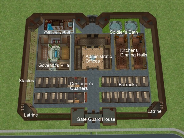 Mod The Sims Roman Fort At Hadrin S Wall
