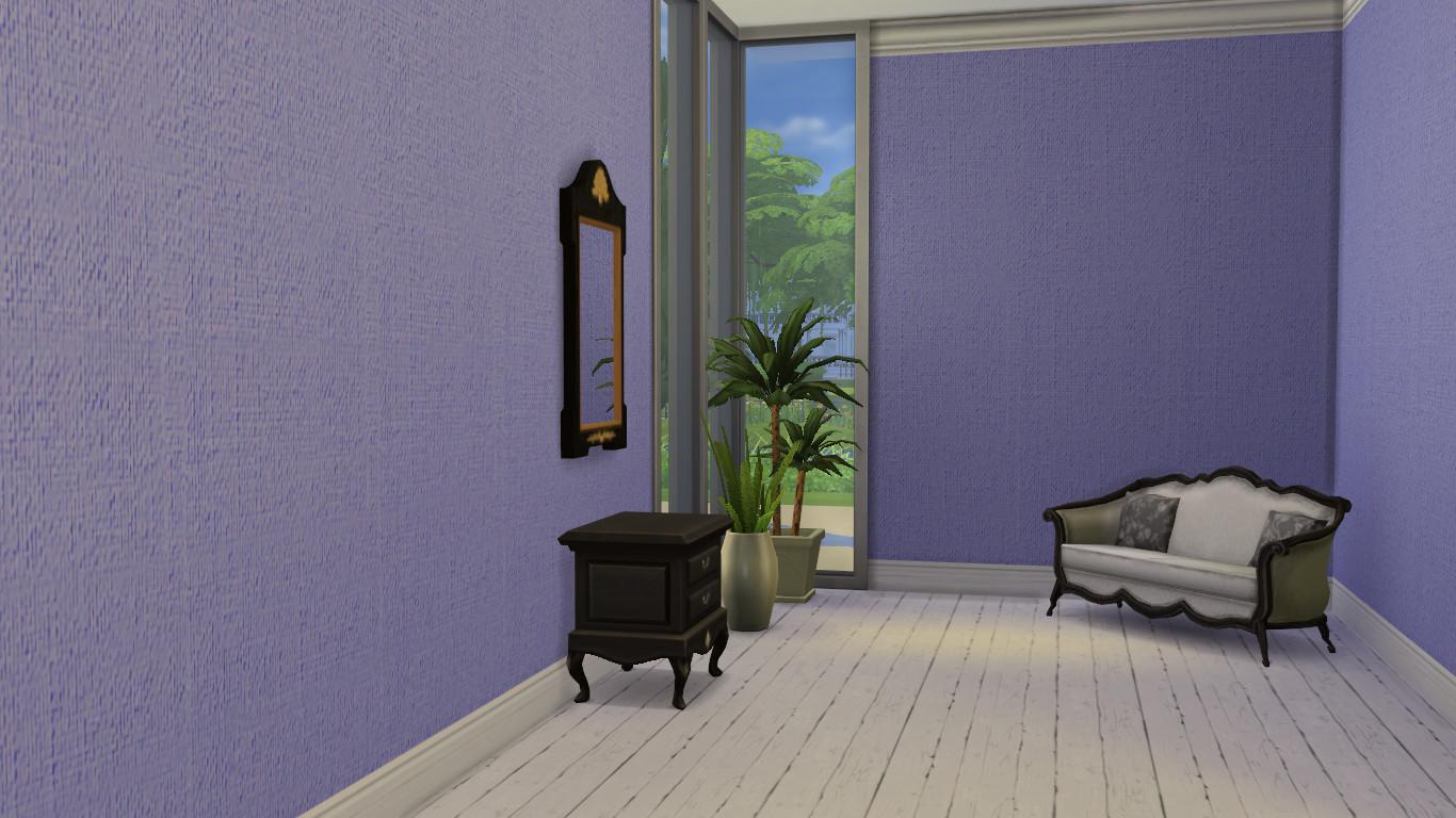 Advertisement: - Mod The Sims - Painted Burlap Wallpaper