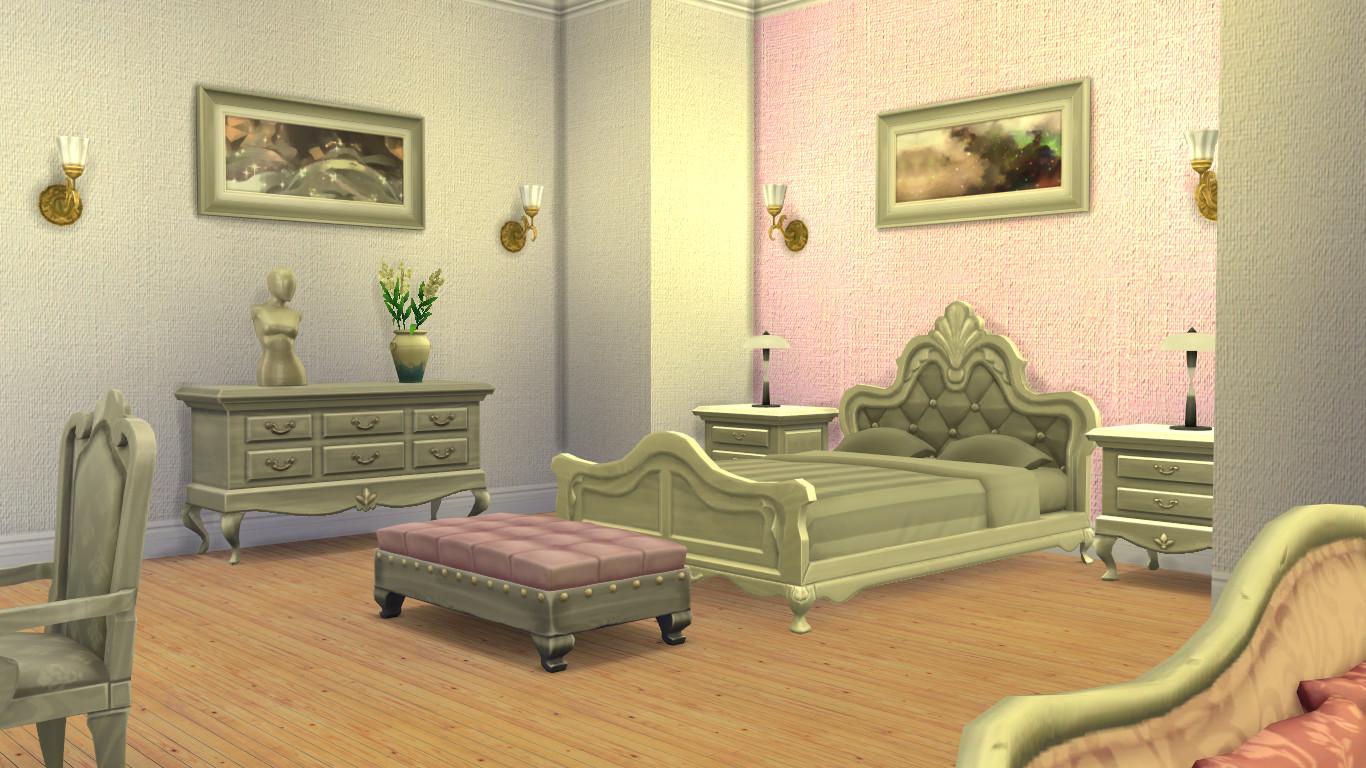 Mod The Sims - Painted Burlap Wallpaper