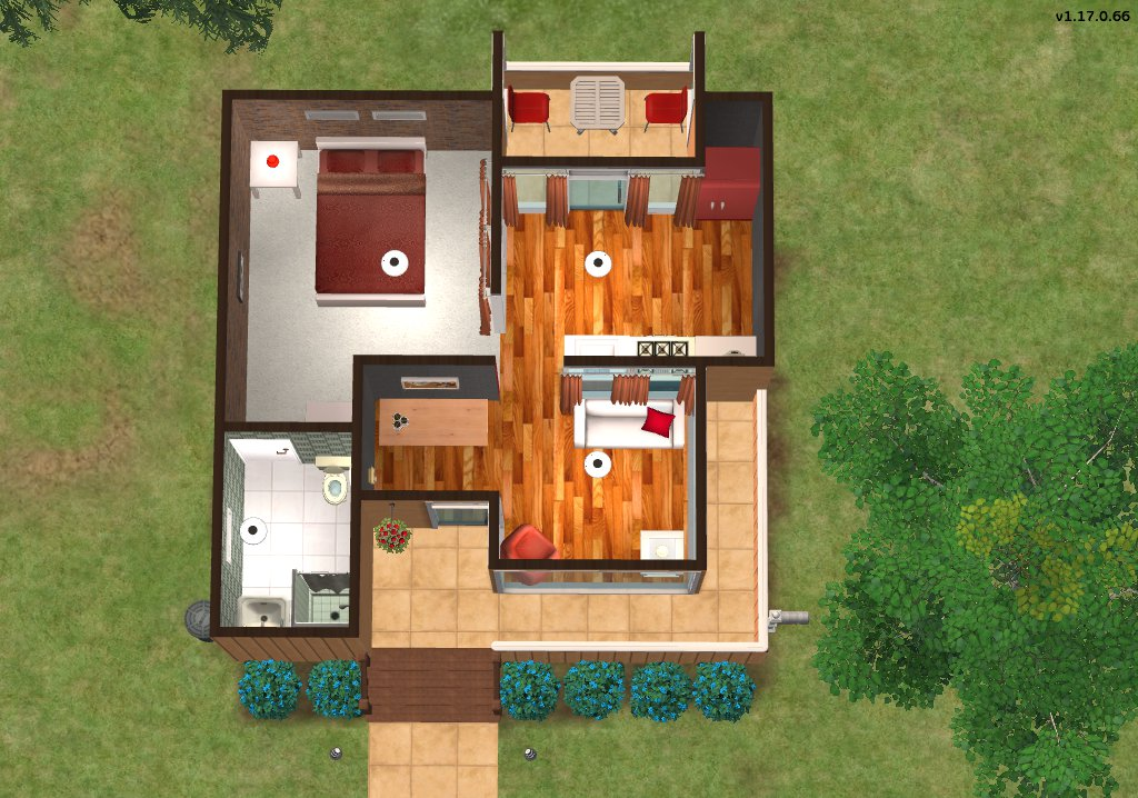 Mod the sims starter cube for Starter home floor plans