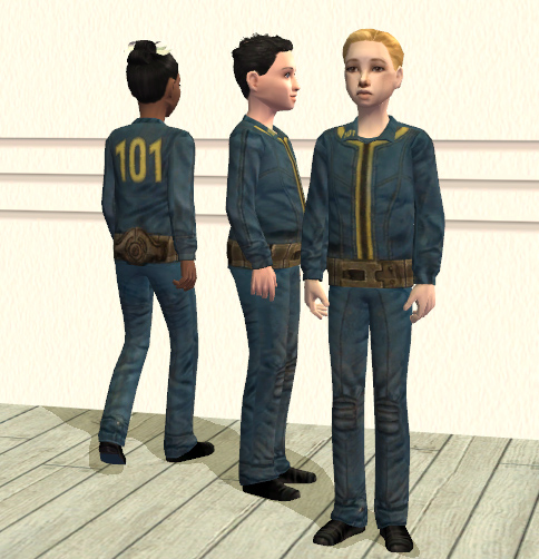 mod the sims fallout vault 101 child suits