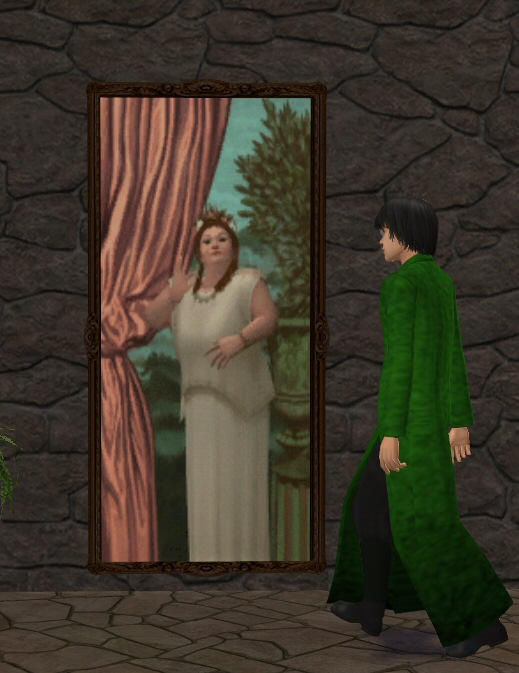 mod the sims griffindor entrance the animated fat lady painting