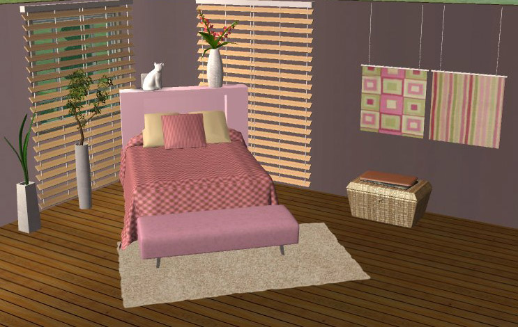Mod The Sims - Cotton Young Girl/Teen Bedroom Set