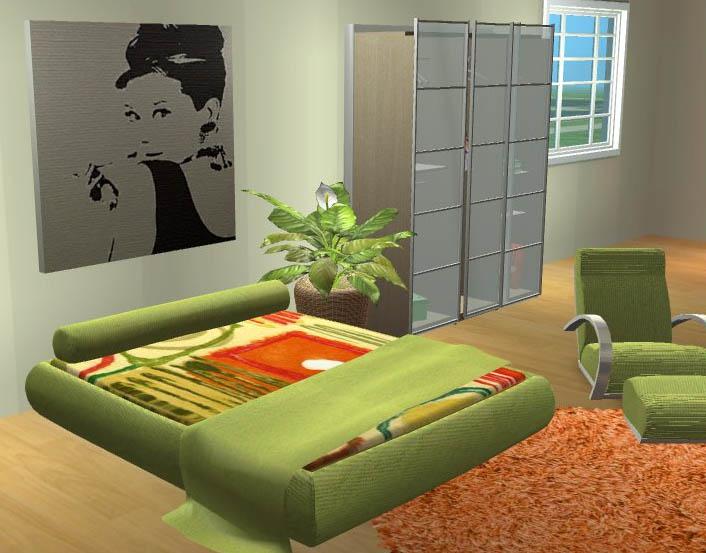 mod the sims comfy retro bedroom set