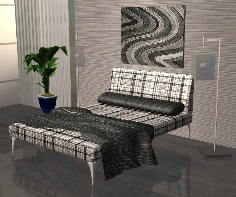 Mod The Sims Basic Grey Black Bedroom