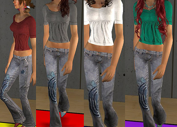 Mod The Sims - True Religion Jeans Outfits Set