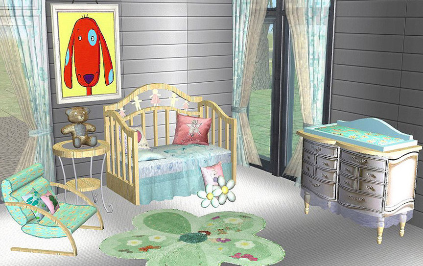 Sims 3 nursery for pinterest