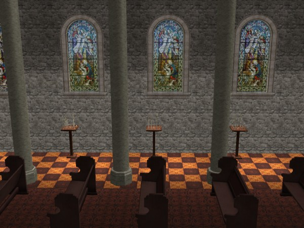 Mod The Sims Medieval Romanesque Cathedral Based Off
