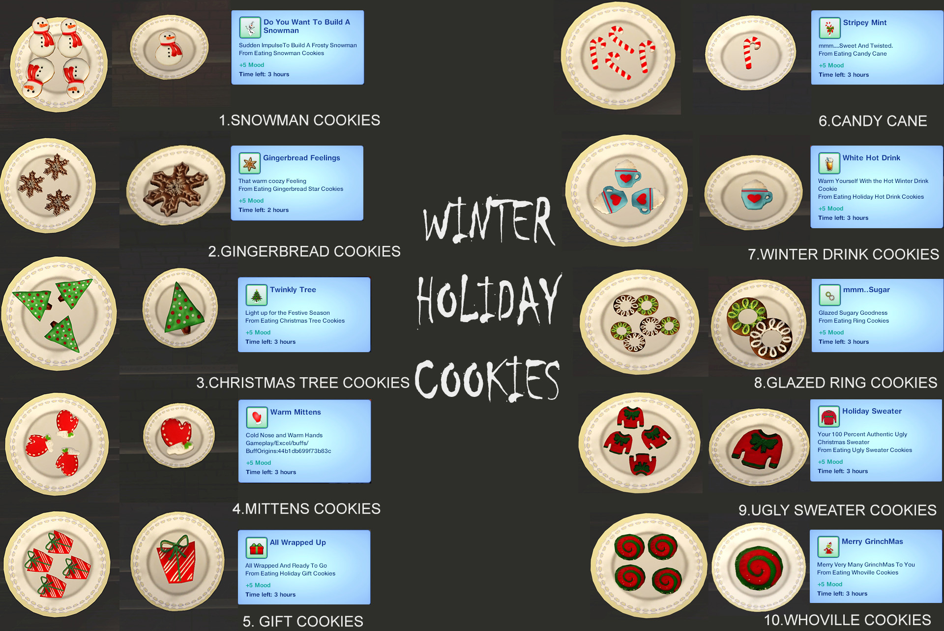 Mod The Sims Winter Holiday Cookies